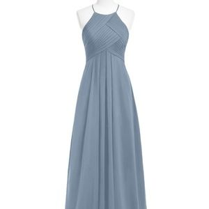 "Azazie Bridesmaid Maxi Dress - ""Dusy Blue"""